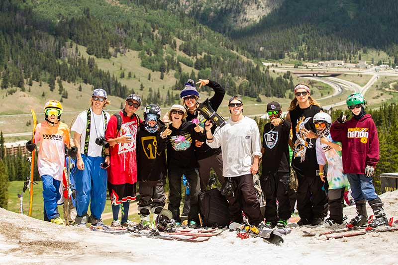 Icelantic Skis team with Woodward Copper Campers