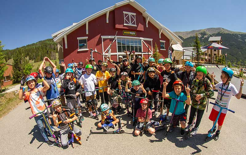 scooter camp at Woodward Copper